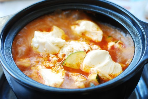 Sundubu jjigae (Korean soft tofu stew)