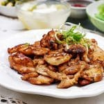 Korean chicken bulgogi on a plate