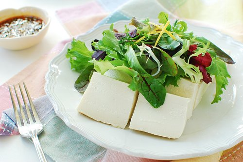 Tofu Salad recipe - Dubu Salad (Korean Tofu Salad)
