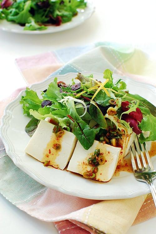 Tofu Salad recipe1 - Dubu Salad (Korean Tofu Salad)
