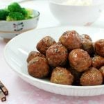 Gogi Wanja Jorim (Glazed Korean Meatballs)