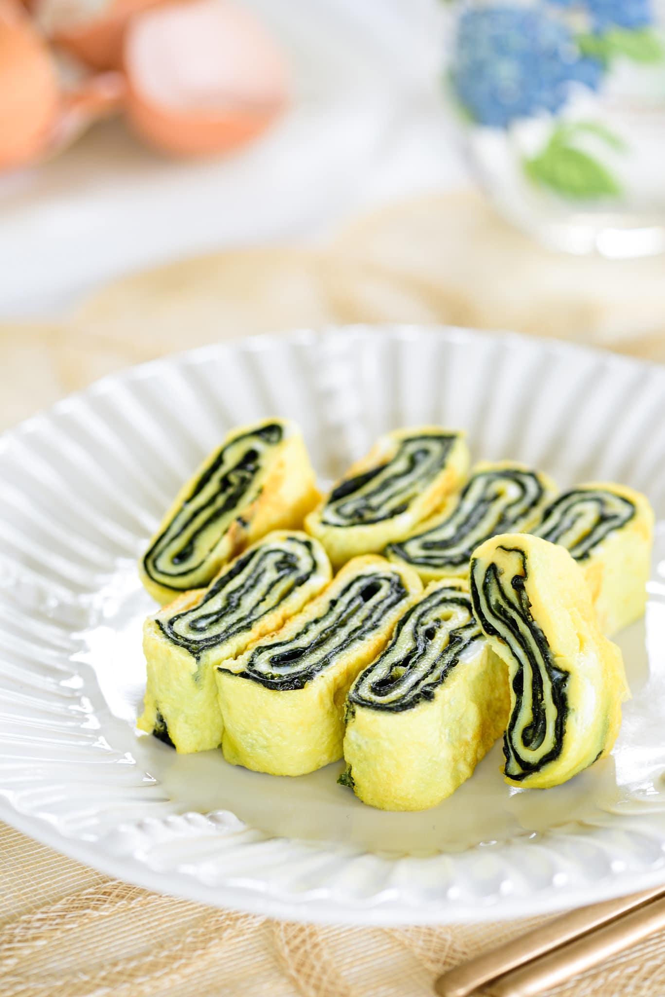 DSC0076 2 - Gyeran Mari (Rolled Omelette) with Seaweed