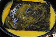 gyeran mari with gim recipe 4 - Gyeran Mari with Gim (Korean Rolled Omelette with Dried Seaweed)