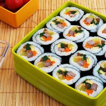 Gimbap photo 350x350 - Gimbap (Korean Seaweed Rice Rolls)