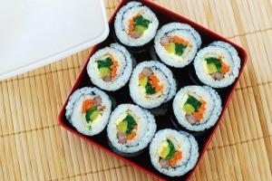 Gimbap (Korean Dried Seaweed Rice Rolls)