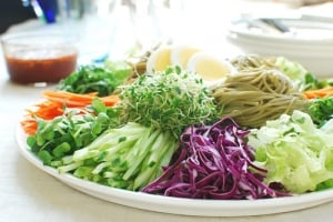 Jaengban guksu 300x200 - Jaengban Guksu (Cold Noodles and Vegetables)