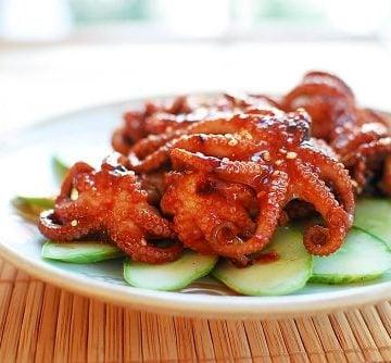Baby octopus 360x334 - Jjukkumi Gui (Spicy Grilled Baby Octopus)