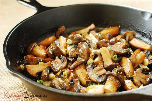 Stir fried mushrooms - Slow Cooked Pork Belly with Bulgogi Sauce and Giveaway