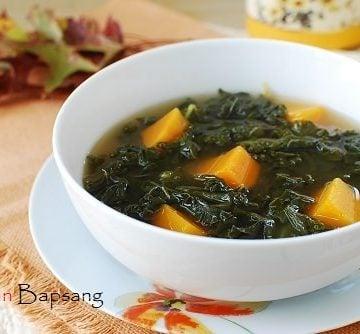 Kale doenjang soup 360x334 - Kale Doenjang Guk (Korean Soybean Paste Soup with Kale)