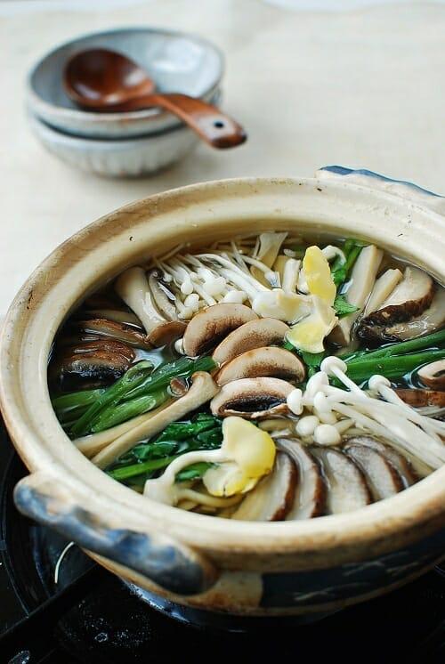 Beoseot Jeongol 1 1 - Beoseot Jeongol (Mushroom Hot Pot )