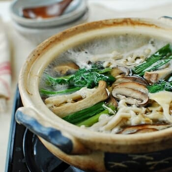 Beoseot jeongol photo 350x350 - Beoseot Jeongol (Mushroom Hot Pot )