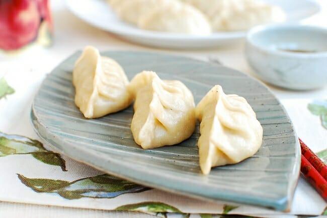 Korean dumplings made with shrimp