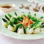 Spring onion tied shrimp and asparagus!