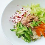 Spring Bibimbap with Tuna