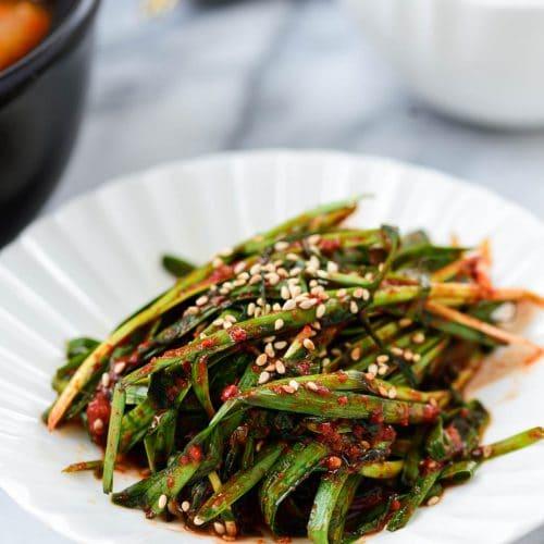 DSC7290 3 500x500 - Buchu Kimchi (Garlic Chives Kimchi)