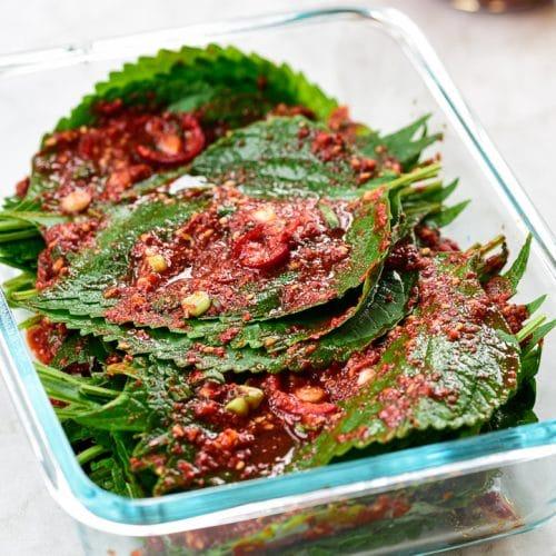 DSC1657 2 1 500x500 - Kkaennip Kimchi (Perilla Kimchi)