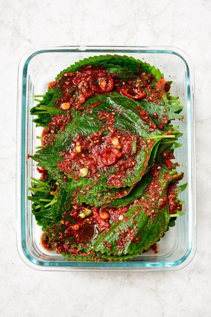 DSC1681 3 e1631075867484 - Kkaennip Kimchi (Perilla Kimchi)