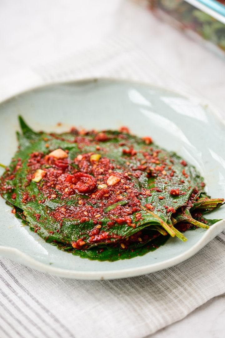 DSC1697 4 - Kkaennip Kimchi (Perilla Kimchi)