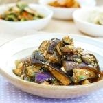 Steamed eggplant side dish