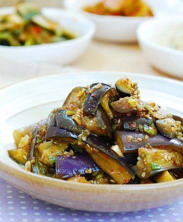 Gaji Namul (Eggplant side dish)