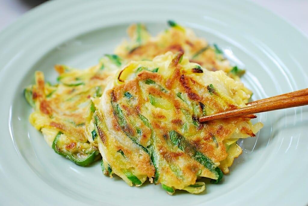 Hobak Buchim Korean Zucchini Pancakes Korean Bapsang