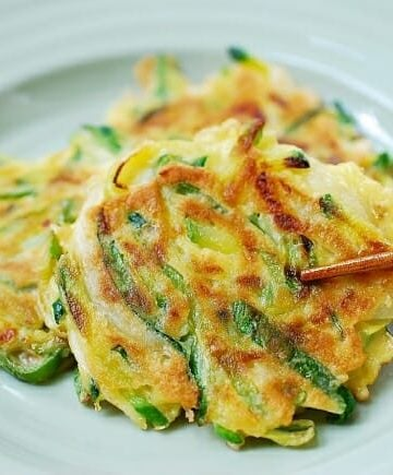Hobak buchimgae (Korean zucchini pancake)
