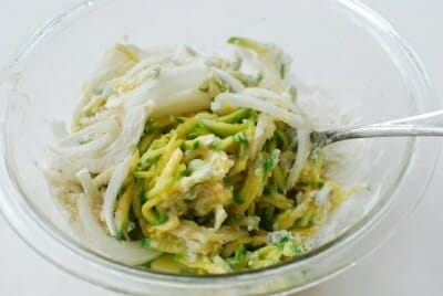 Hobak buchim (Korean zucchini pancake)