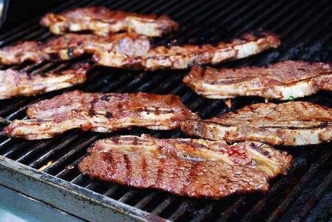 Galbi -Korean grilled beef short ribs
