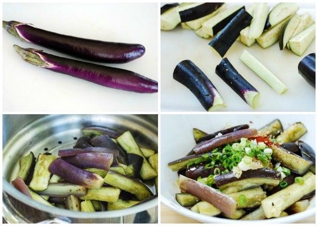 Gaji namul - Gaji Namul (Steamed Eggplant Side Dish)
