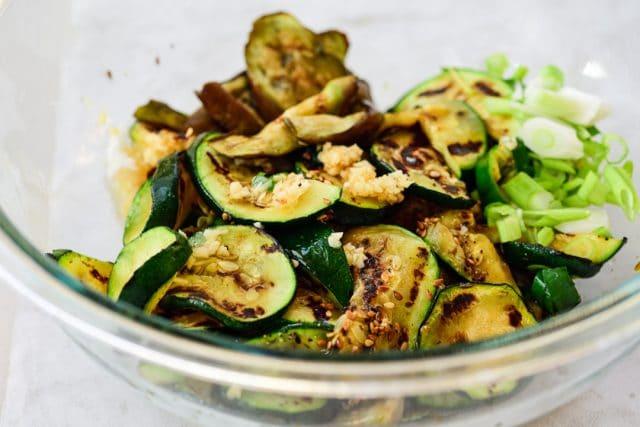 DSC1431 640x427 - Gaji Hobak Muchim (Grilled Eggplant and Zucchini)