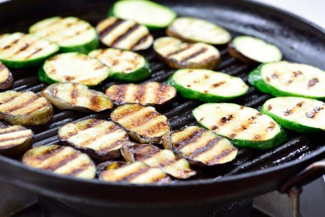 DSC1531 640x427 - Gaji Hobak Muchim (Grilled Eggplant and Zucchini)