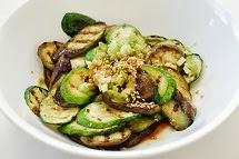 Grilled eggplant and zucchini 4 - Gaji Hobak Muchim (Grilled Eggplant and Zucchini with Korean Seasoning)
