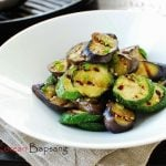 Gaji Hobak Muchim (Grilled Eggplant and Zucchini with Korean Seasoning)