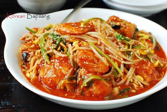 Agujjim Also Called Agwijjim Is A Spicy Fish Dish Made With Agu Monkfish And Kongnamul Soybean Sprouts Jjim The Noun Form