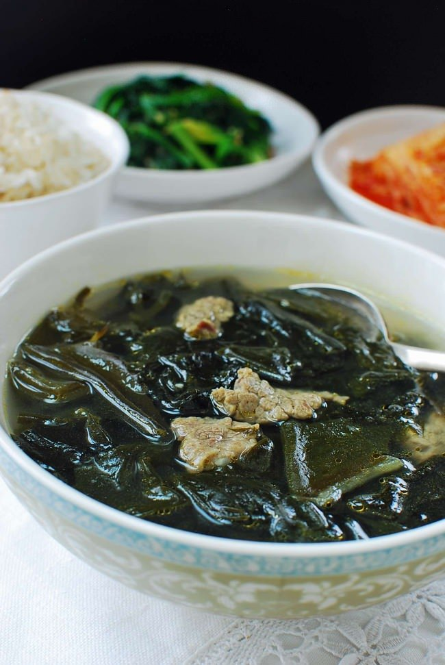 Miyeok guk (seaweed soup) with beef
