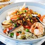 Haemul bap (Korean seafood rice bowl)