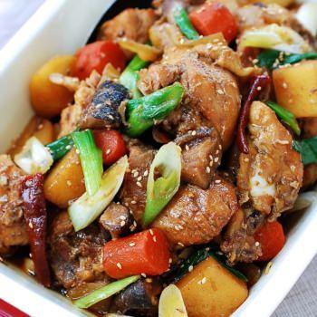 DSC 4606 350x350 - Slow Cooker Dakjjim (Braised Chicken)