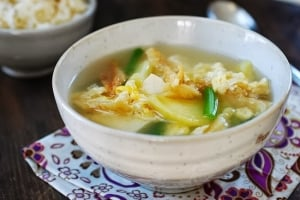 bukeoguk recipe 300x200 - Bukeoguk (Dried Pollock Soup)