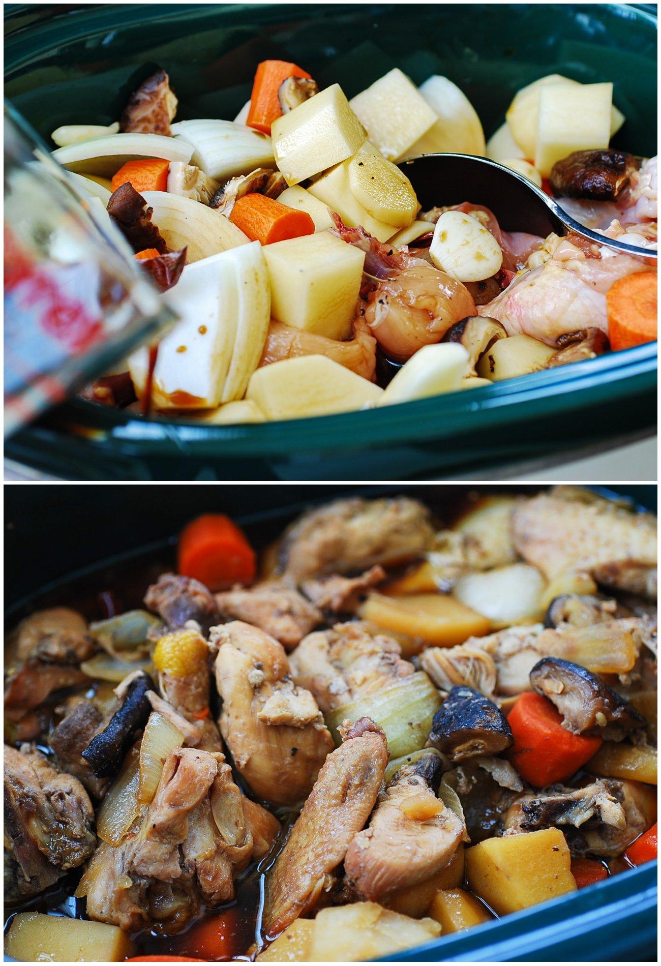 dakjjim - Slow Cooker Dakjjim (Braised Chicken)
