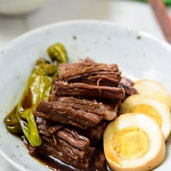Korean soy braised beef side dish