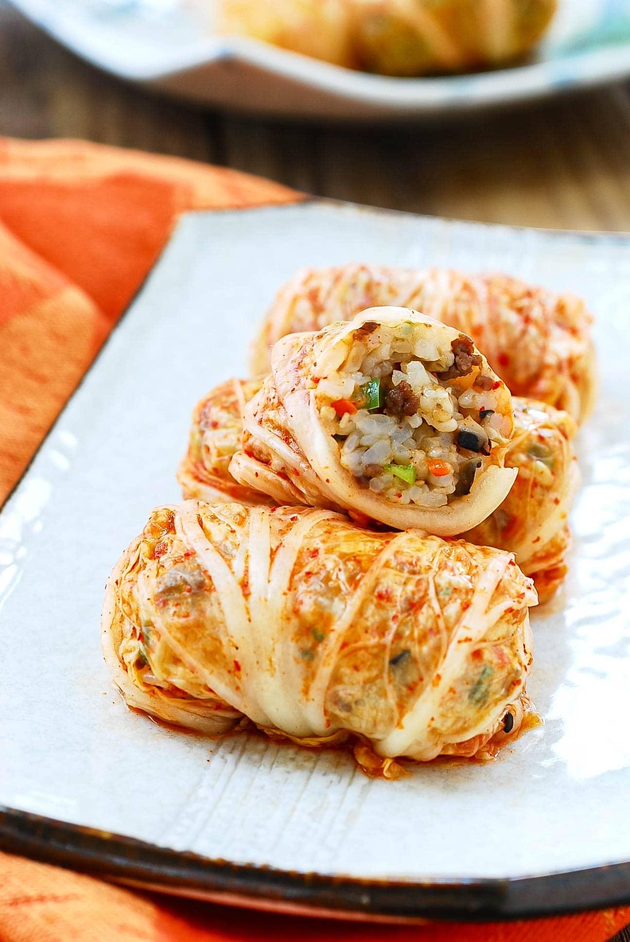 DSC 0098 1 - Kimchi Ssambap (Rice Rolls)