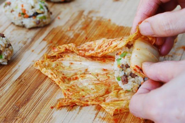 DSC 5465 640x428 - Kimchi Ssambap (Rice Rolls)