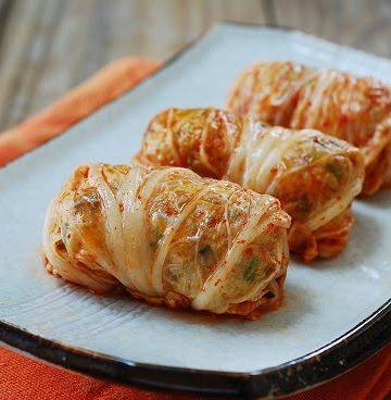 Kimchi Ssambap recipe 360x368 - Kimchi Ssambap (Kimchi Wrapped Rice Rolls)