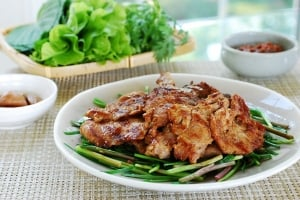 Korean pork marinated in a fermented soybean paste