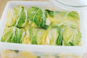 storing White kimchi