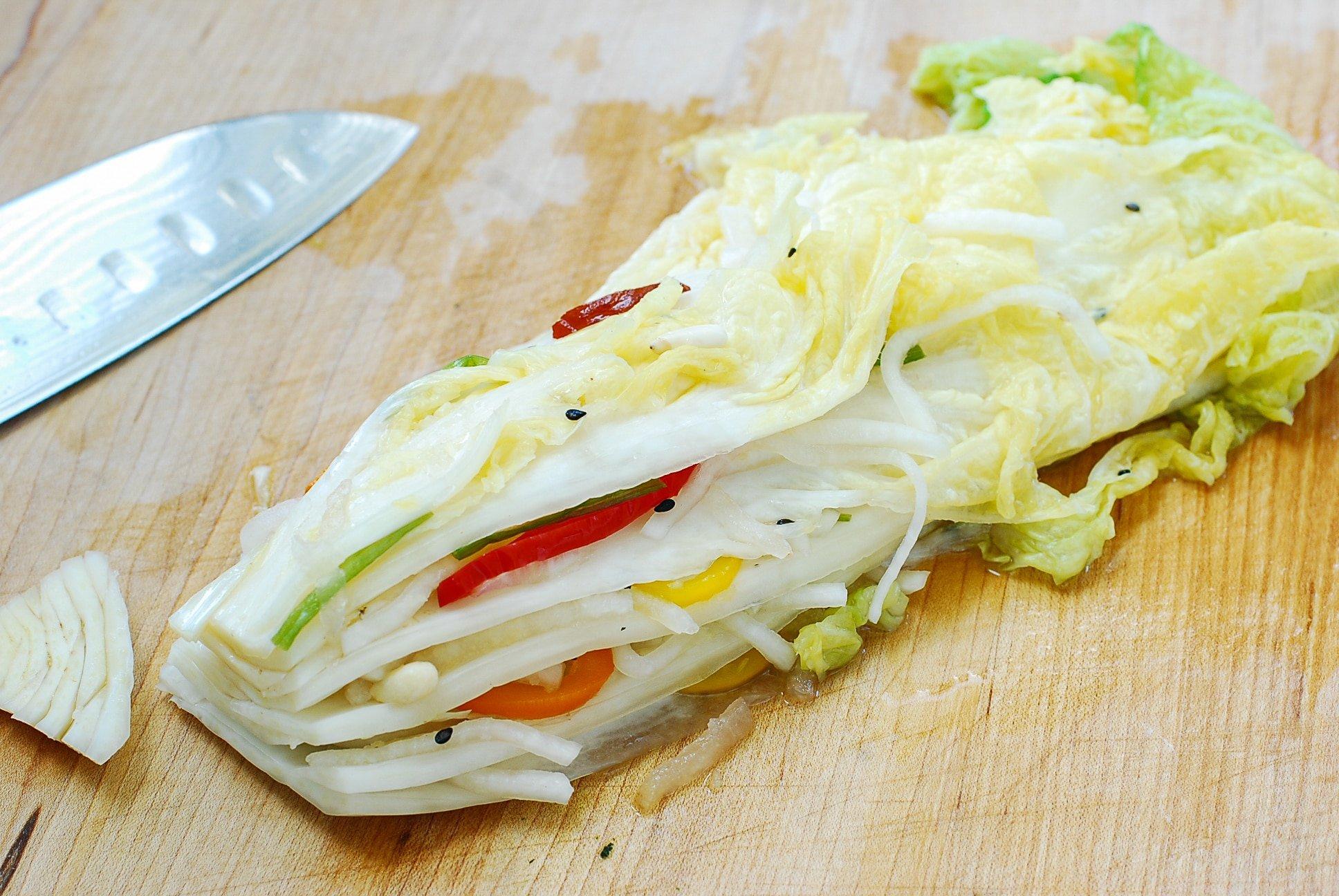 DSC 2938 1 - Baek Kimchi (White Kimchi)