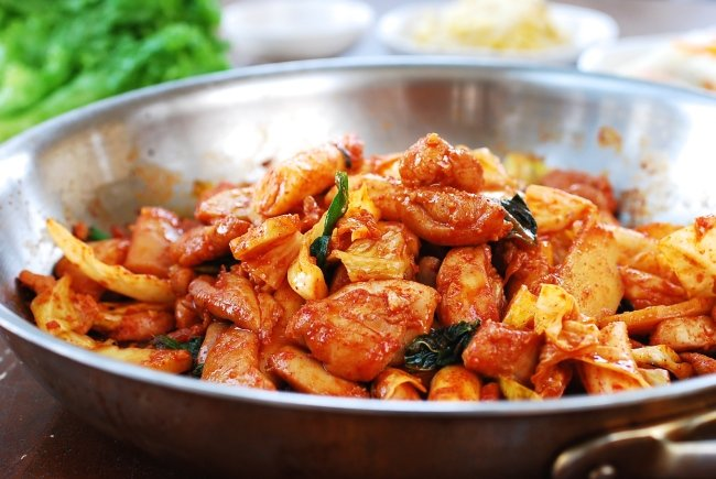 Korean Spicy stir-fried chicken with vegetables