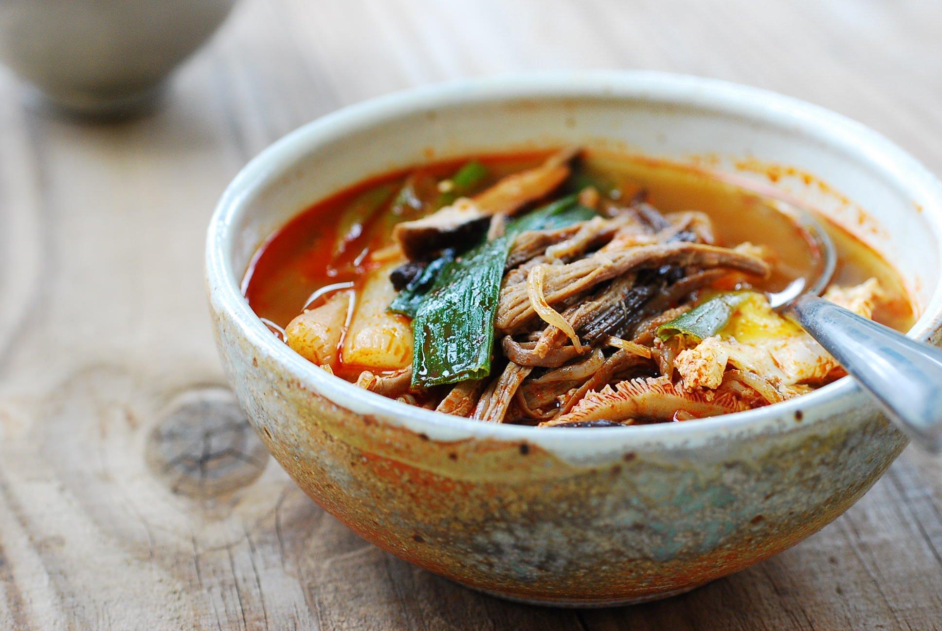 Yukgaejang Spicy Beef Soup With Vegetables Korean Bapsang