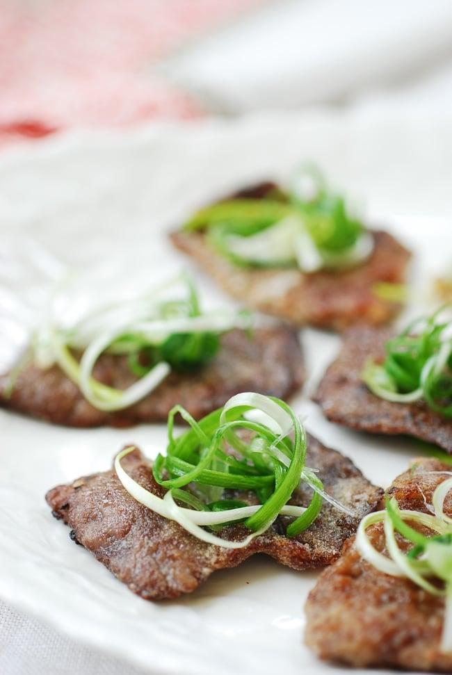 DSC 0775 e1423455709235 - Yukjeon (Pan-fried Battered Beef)