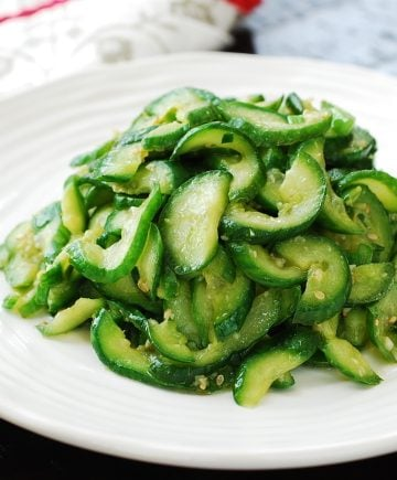Korean side dish stir-fried cucumbers